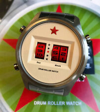 Red Star Drum Roller Watch 44mm Quarz #8395G-C