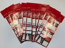10 packs (21+/pck)  xmas gift tags presents wrapping swap  peel and stick red