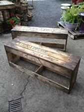 1 x rustic timber bench seat or shoe box recycled timber