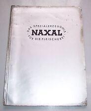 Mappe Reklame Prospekte Naxal  Fleischerei Metzger Zubehör 1937 Fleischerhaken !