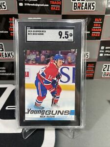 Nick Suzuki Young Guns 2019-20 Upper Deck SGC 9.5 Mint Plus