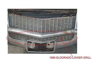 1969 CADILLAC ELDORADO FRONT GRILL (LOWER) BEAUTIFUL 1967 1968 1970 Compatible