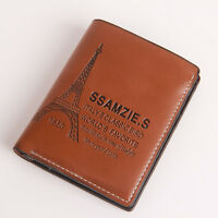 New Mens Genuine Leather Bifold Wallet Credit Card Purse ID Window #MW058