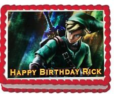 Zelda Birthday Party Icing Edible Cake Topper Image Decoration