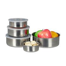 Brotdose Edelstahl 5er Set Lebensmittelbehälter Vorratsdose Snackdose Lunchbox