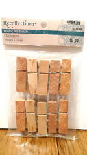 Recollections WOOD CLOTHESPINS 10 Pieces NEW Embellishments