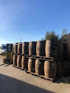 Oak Whiskey Barrel 40 Gallon Wooden Keg Garden Table Planters Smoker Water Butt
