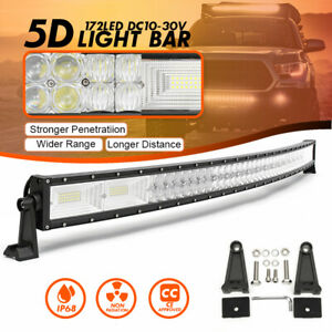 5D 50 Inch Curved 1560W LED Work Light Bar Combo Driving Off-Road Car Truck