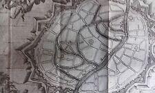 Plan de la ville de MALINES HARREWYN GRAVURE originale DELICES des PAYS BAS 1711