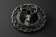 3D STAG DEER HEAD BELT BUCKLE METAL HUNTING ANIMAL