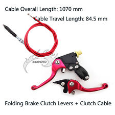 Folding Brake Clutch Levers Cable For Chinese CRF 50 70 SSR Thumpstar Pit Bike