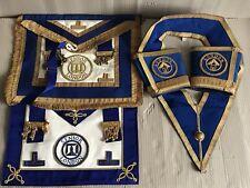 Job Lot London Masonic Regalia - 2x Senior Apron, 1x Sash, Pair Gauntlet Cuffs