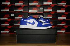 Nike Air Jordan 1 Low Game Royal White- SIze 11 & 12 - 553558-124- Brand New