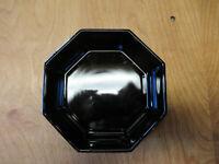 "Arcoroc BLACK OCTAGONAL Dinner Plate 10 3/4"" 1 ea   2 available"