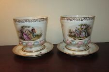 Vintage pair of Sevres planters cachepots Milet hand painted