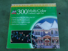 Yule Rite 300 Multi Color Garland Mini Light Set (Indoor/Outdoor) 18' Green Wire