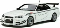 OTTO MOBILE 760 NISSAN SKYLINE GT-R R34 Mines model car QX1 Pearl white 1:18th