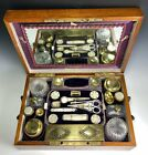 RARE c 1818 French Palais Royal Vanity Sewing Chest  Box  Mother of Pearl   18k