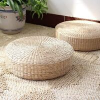 New Japanese Style Woven Tatami Floor Cushion Corn Maize Husk Breathable Padded