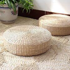 "15.8x4.3"" Japanese Woven Tatami Floor Cushion Corn Maize Husk Breathable Padded"