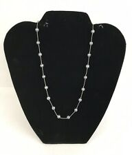 """Vintage 16"""" Inch Choker ROUND Black Pearl Necklace"""