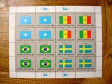 United Nations 8 Flag Sheet-Lets All Mint Never Hinged (Total FV=$25.60)