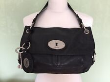 "FOSSIL Black Leather ""Long Live Vintage"" Shoulder/Hand Bag"