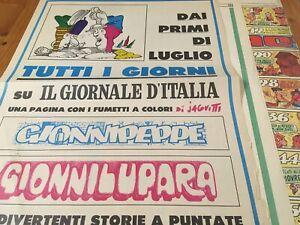 Fumetti di JACOVITTI sul quotidiano IL GIORNALE D'ITALIA Originale dell'epoca