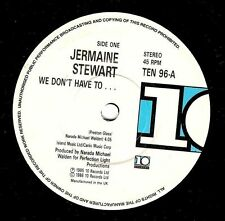 """JERMAINE STEWART We Don't Have To 7"""" Single Vinyl Record 10 1986"""