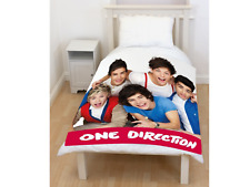 Offical One Direction 'Craze' 1D Panel Fleece Blanket Bed Throw Brand New Gift