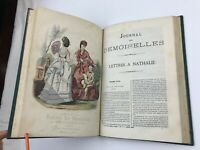 1871 Journal des Demoiselles Hand Coloured Fashion Plates Victorian Magazine