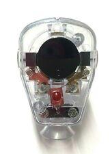 Winkelstecker transparent mit Schalter AWA Schukostecker Stecker EU Qualität