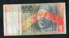 C2000 Bank of Slovakia 100 Koruna Bank Note: U05520860