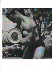 bodybuilder JOHN GRIMEK Curls York Dumbbell Bodybuilding Photo B&W