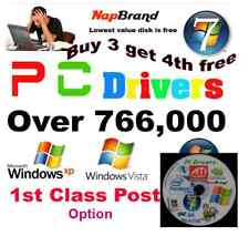 PC DRIVERS 766,000+  on DVD XP,VISTA & WINDOWS 7 - 2012 version