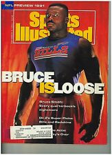Sepet 2 1991  issue of Sports Illustrated Bills Bruce Smith  Cover