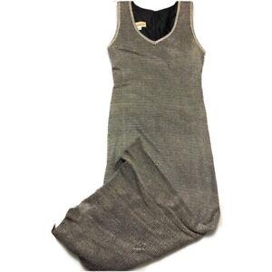 Damianou Vintage Mesh Maxi Slip Dress Gold Size M