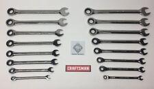 NEW CRAFTSMAN 16 pc Ratcheting Wrench Set SAE / Metric