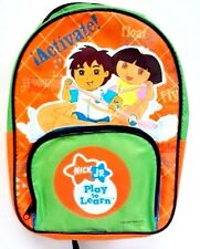 """Nickelodeon Jr. Dora and Diego 10""""-11"""" Toddler School Small Backpack book bag"""