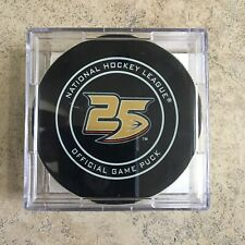 25th Anniversary Anaheim Ducks Vs Florida Panthers Game Used Puck 3/17/19