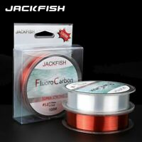 Jackfish 100m Fluorocarbon Fishing Line 5-30lb Super Strong Brand Leader Clear