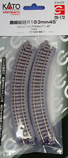"""Kato N Scale Unitrack Section - Curved 7"""" Radius - 45 Degree"""