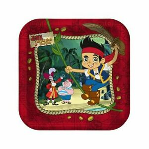 Jake And The Never Land Pirates Party Supplies Paper Cake Plates - Set of 3