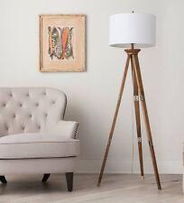 Oak Wood Tripod Floor Lamp