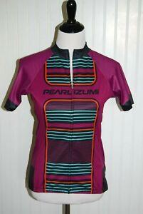 Pearl Izumi Elite Cycling Jersey Shirt Full Zip Pockets Womens Large Purple NEW