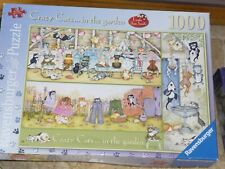 CRAZY CATS in the GARDEN Jigsaw Puzzle. Linda Jane Smith. 1000 Piece.