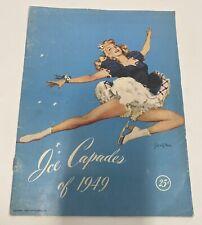 Ice Capades 1949 Program Disney Advertising