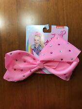 JoJo Siwa bow, pink with rhinestones