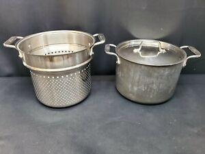 All-Clad LTD 5.5 Qt. Quart Stock Pot w/ Steamer Basket & Lid
