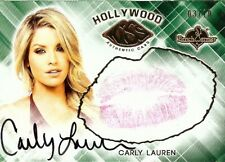 Carly Lauren 2015 Benchwarmers Hollywood Gold Kiss Card Autograph Sexy 03/10
